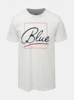 Bílé slim fit tričko s potiskem ONLY & SONS Lounge