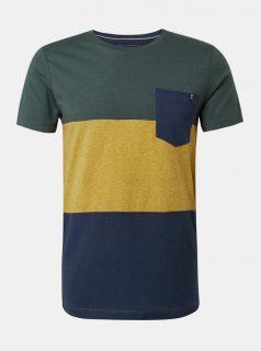 Žluto-zelené tričko s kapsou Tom Tailor Denim