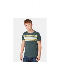 Tmavě zelené pánské tričko s potiskem Tom Tailor Denim