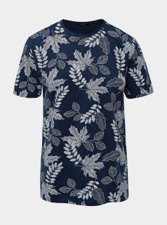 Tmavě modré vzorované tričko ONLY & SONS Angus