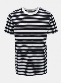 Bílo-modré pruhované basic tričko Jack & Jones Logan