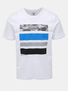 Bílé tričko s potiskem Jack & Jones Space