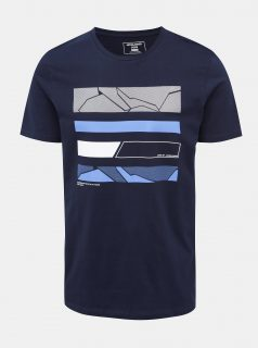 Tmavě modré tričko s potiskem Jack & Jones Space
