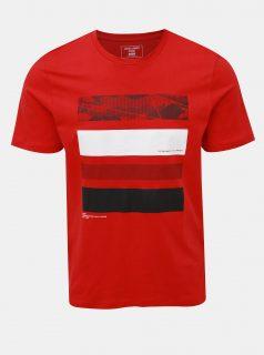 Červené tričko s potiskem Jack & Jones Space