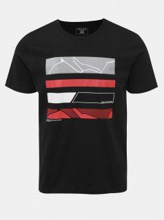 Černé tričko s potiskem Jack & Jones Space