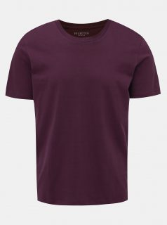 Vínové basic tričko Selected Homme The Perfect