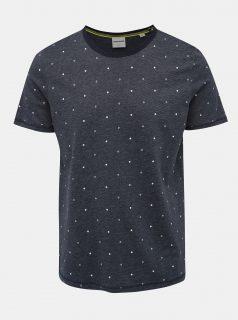 Tmavě modré vzorované tričko Jack & Jones Hex