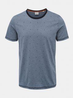Modré vzorované tričko Jack & Jones Hex