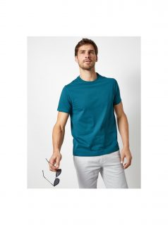 Petrolejové basic tričko Burton Menswear London