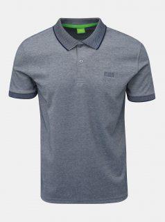 Modré žíhané polo tričko Feedback