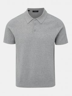Světle šedé polo tričko Selected Homme Virgo