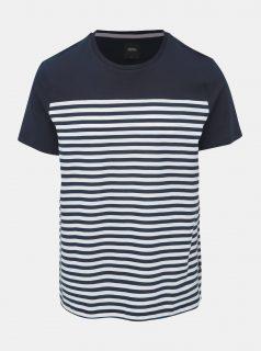Tmavě modré pruhované tričko Burton Menswear London Riviera