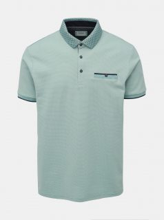 Světle zelené polo tričko Burton Menswear London Col