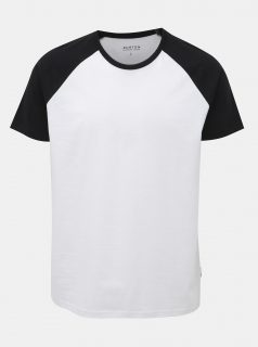 Černo-bílé tričko Burton Menswear London
