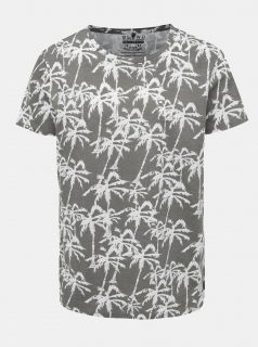 Šedé vzorované tričko Blend