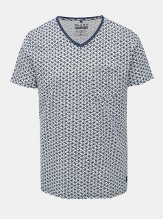 Modro-bílé vzorované tričko s kapsou Blend