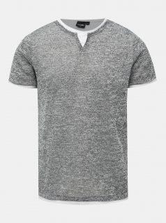 Šedé pánské žíhané tričko Haily´s Siena
