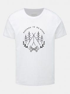 Bílé pánské tričko ZOOT Original Dostanu tě do stanu