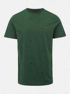 Zelené vzorované tričko ONLY & SONS Kyon