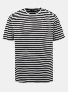 Černo-šedé pruhované tričko ONLY & SONS Jamie