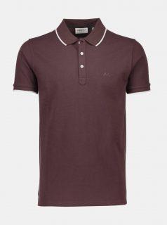 Vínové slim fit polo tričko Lindbergh