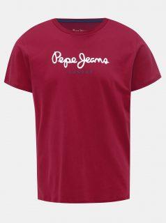 Červené pánské tričko s potiskem Pepe Jeans Eggo