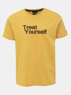 Žluté pánské tričko s výšivkou Haily´s You