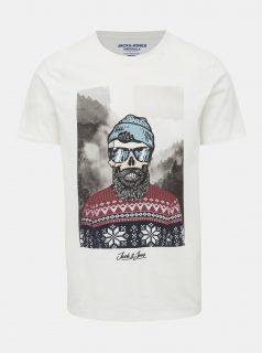 Bílé tričko Jack & Jones Skoll