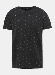 Černé vzorované tričko Jack & Jones Slate
