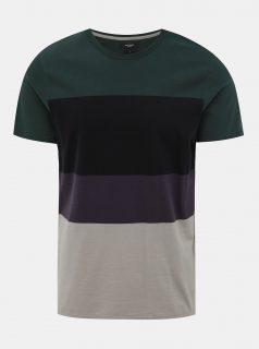 Šedo-zelené pruhované tričko Jack & Jones Terrance