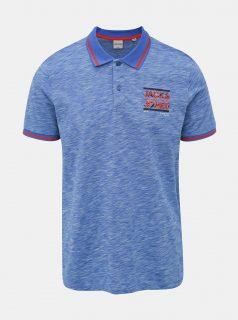 Modré polo tričko Jack & Jones CORE Foni
