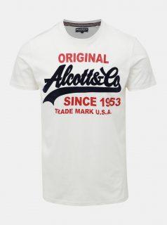 Bílé pánské tričko Alcott