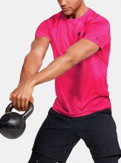 Růžové pánské kompresní tričko Rush Under Armour