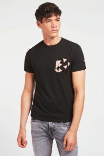 Guess černé pánské tričko Printed Pocket
