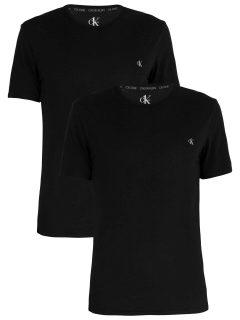 Calvin Klein černý pánský 2 pack triček S/S Crew Neck 2PK