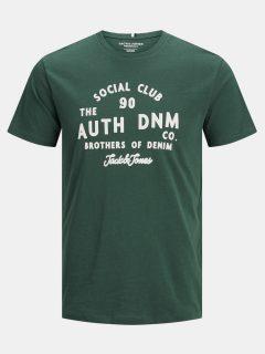Tmavě zelené tričko Jack & Jones Orstandard