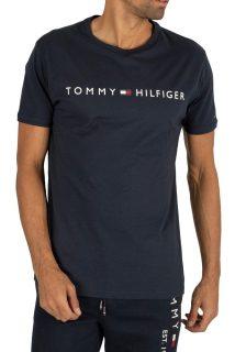 Tommy Hilfiger tmavě modré tričko CN SS Tee Logo Flag s logem