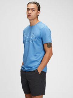 Modré pánské tričko GAP Logo raised arch t