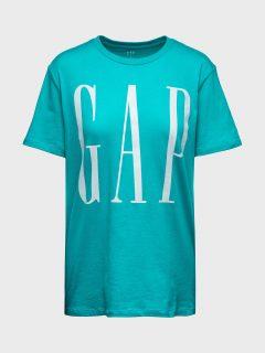 Modré pánské tričko GAP Logo crewneck t-shirt