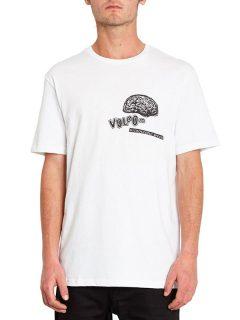 Volcom Cosmogramma white pánské triko s krátkým rukávem – bílá