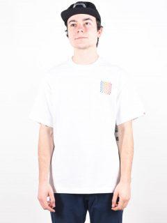 Element DISTORTION OPTIC WHITE pánské triko s krátkým rukávem – bílá