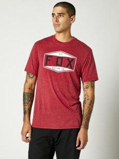 Fox Emblem Tech chilli pánské triko s krátkým rukávem – červená