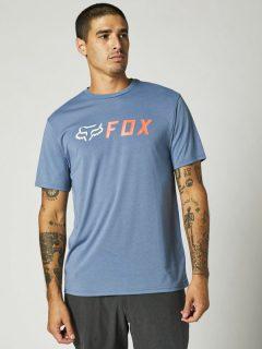 Fox Apex Tech Matte Blue pánské triko s krátkým rukávem – modrá