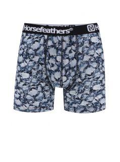 Černo-modré pánské boxerky s potiskem Horsefeathers Sidney