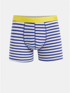 Modro-béžové pruhované boxerky Selected Homme Classic
