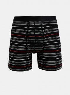 Černé pruhované boxerky SAXX