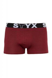 Styx vínové pánské boxerky se sportovní gumou.