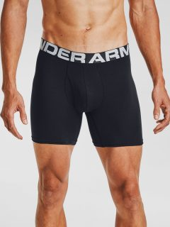 Černé boxerky Under Armour UA Charged Cotton 6in 3 Pack