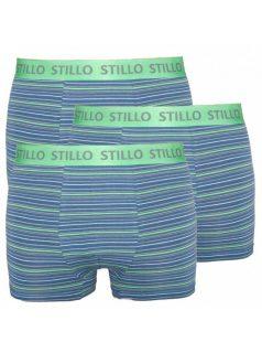 3PACK pánské boxerky Stillo modré se zelenými proužky