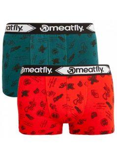 2PACK pánské boxerky Meatfly vícebarevné